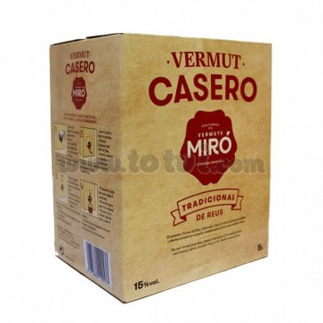 Bag in box Vermouth Casero Miró 5lts